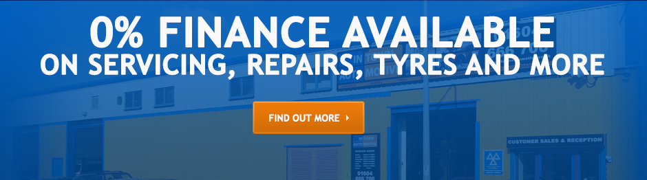 0% Finance Available on Servicing, Repairs, Tyres and more